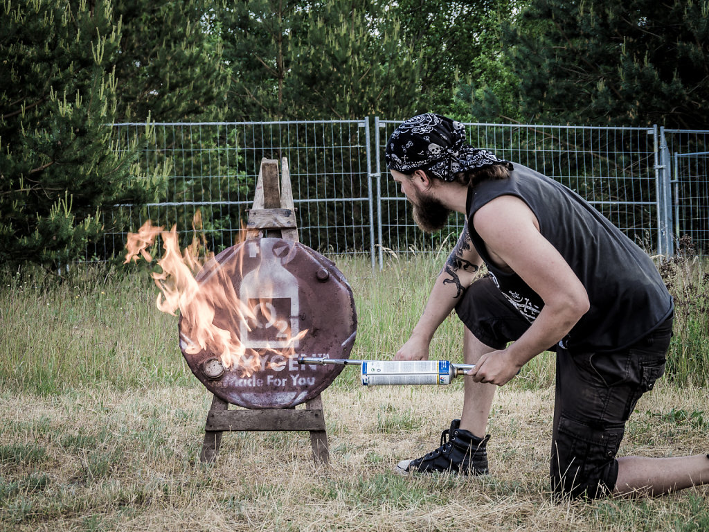 Prepping Props - with fire!